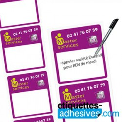 Bobine d'étiquettes rectificatives Jusqu'à 10cm²