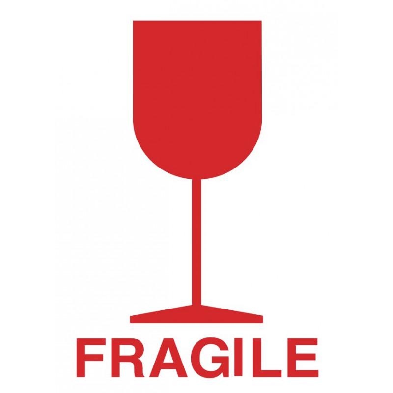 Bien connu Etiquette FRAGILE + VERRE - Etiquette Adhesive Autocollants et  WL85