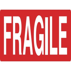 1000 Etiquettes FRAGILE - 80 x 110 mm