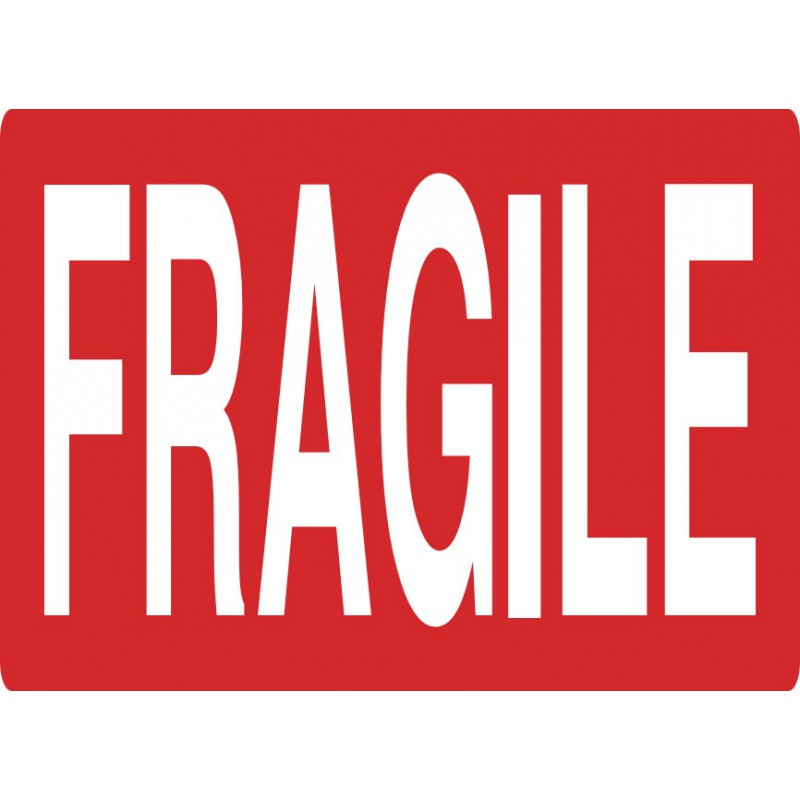Top Etiquette FRAGILE - 80 x 110 mm - Etiquette Adhesive Autocollants  AJ73