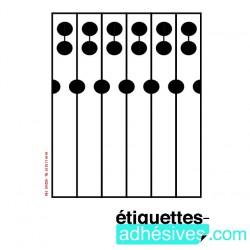 ETIQ/A4 35x297 - 6X1 CRAVATE
