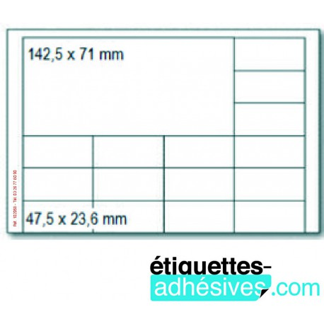 ETIQ/A5 142X71+47X23 16 ETIQ