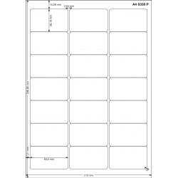 A4 63x38 Polyester Transparent Mat