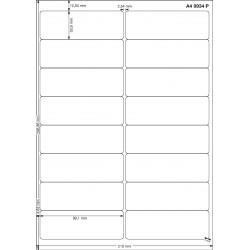 A4 99x34 Polyester Transparent Mat