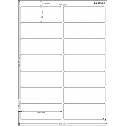 A4 99x38 Polyester Transparent Mat