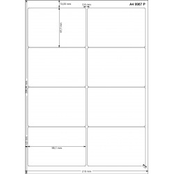 A4 99x67 Polyester Transparent Mat